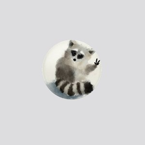Raccoon says hello! Mini Button