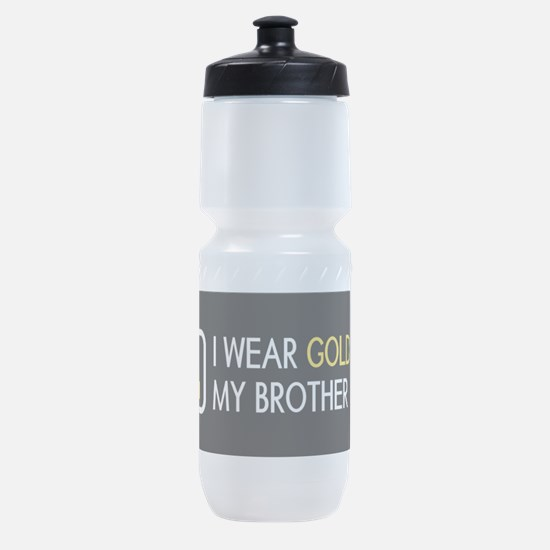 Childhood Cancer: Gold For My Brothe Sports Bottle