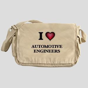 I love Automotive Engineers Messenger Bag