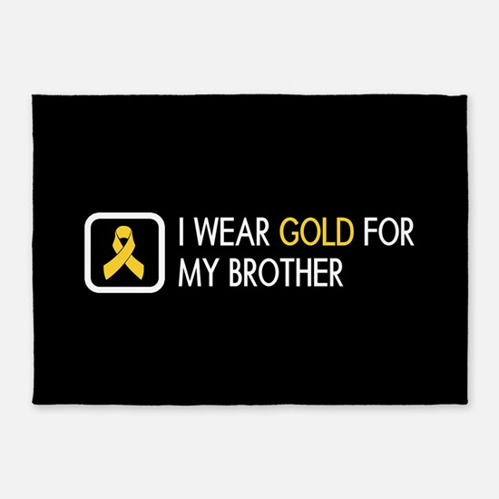 Childhood Cancer: Gold For My Broth 5'x7'Area Rug