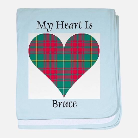 Heart - Bruce hunting baby blanket