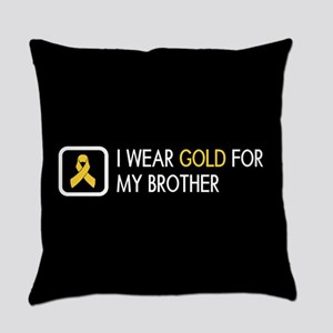 Childhood Cancer: Gold For My Brot Everyday Pillow