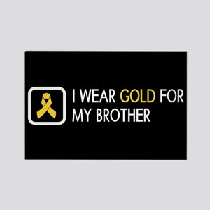 Childhood Cancer: Gold For My Bro Rectangle Magnet