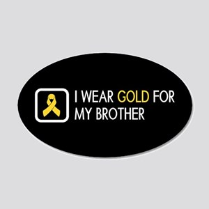 Childhood Cancer: Gold For M 20x12 Oval Wall Decal