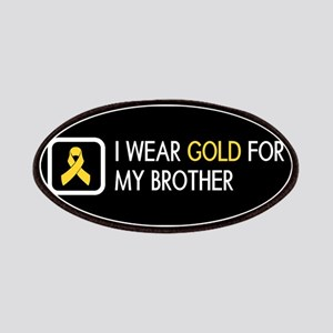 Childhood Cancer: Gold For My Brother Patch