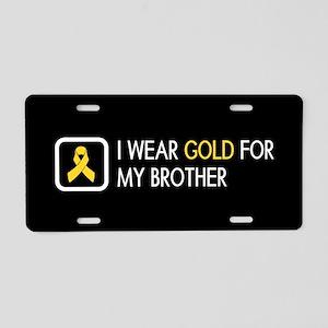 Childhood Cancer: Gold For Aluminum License Plate