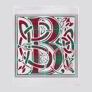 Monogram - Bruce hunting Throw Blanket