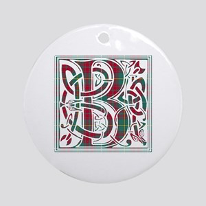 Monogram - Bruce hunting Round Ornament