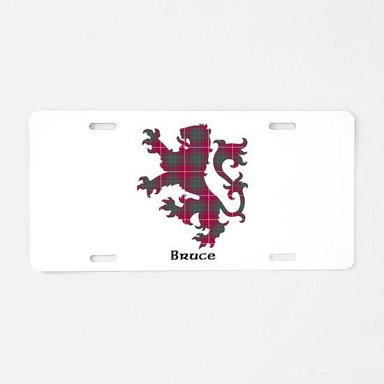 Lion - Bruce Aluminum License Plate
