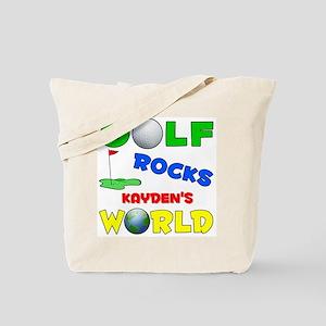 Golf Rocks Kayden's World - Tote Bag