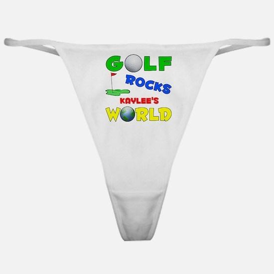 Golf Rocks Kaylee's World - Classic Thong