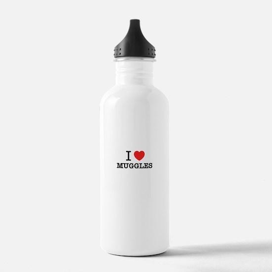 I Love MUGGLES Water Bottle