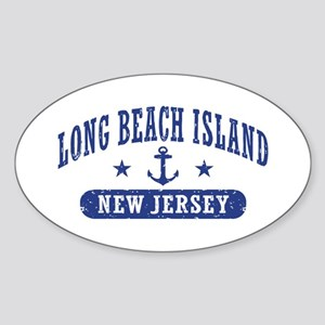 Long beach Island NJ Sticker (Oval)