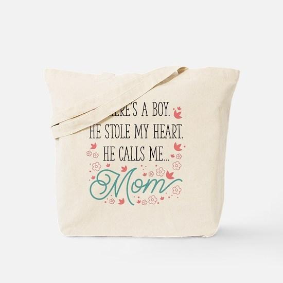 He Calls Me Mom Tote Bag