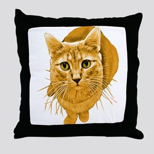 Orange Cat Throw Pillow