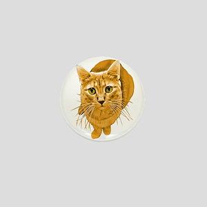 Orange Cat Mini Button