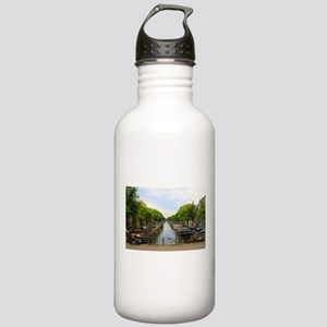 Canal, bridges, bikes, Stainless Water Bottle 1.0L