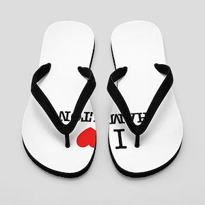 I Love HAMILTON Flip Flops