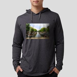 Canal, bridges, bikes, boats, Long Sleeve T-Shirt