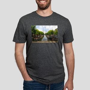 Canal, bridges, bikes, boats, Amsterdam, H T-Shirt