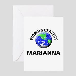 World's Okayest Marianna Greeting Cards
