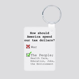 Tax spending options Keychains