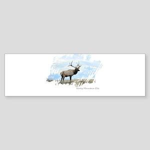 Rocky Mountain Elk Bumper Sticker