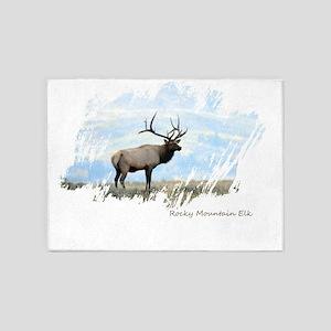 Rocky Mountain Elk 5'x7'Area Rug