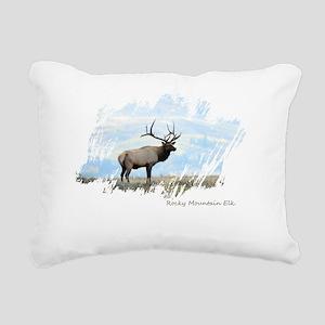 Rocky Mountain Elk Rectangular Canvas Pillow