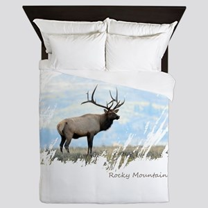 Rocky Mountain Elk Queen Duvet