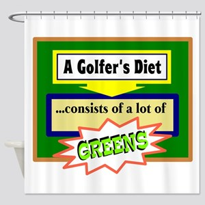 Golfer's Diet Shower Curtain