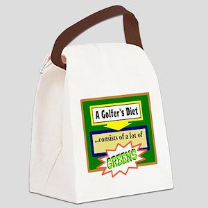 Golfer's Diet Canvas Lunch Bag