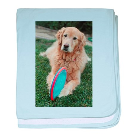 Nala Golden Retriever With Blue And P Baby Blanket By