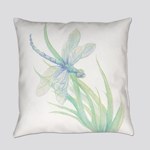Watercolor Dragonfly painting in s Everyday Pillow