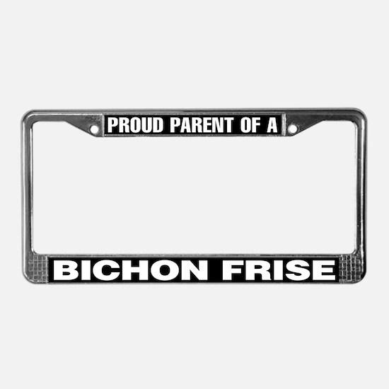 Bichon Frise License Plate Frame