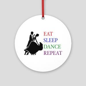 Eat Sleep Dance Ornament (Round)
