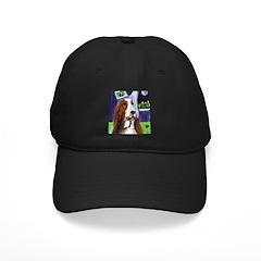 BASSET HOUND portrait Design Baseball Hat