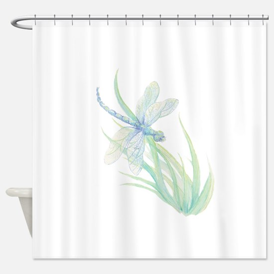 pretty dragonfly shower curtains. Watercolor Dragonfly painting in so Shower Curtain Curtains  CafePress