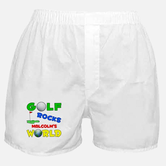 Golf Rocks Malcolm's World - Boxer Shorts