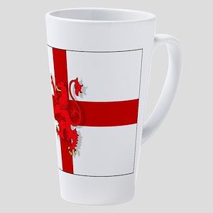 English Lion Flag 17 Oz Latte Mug