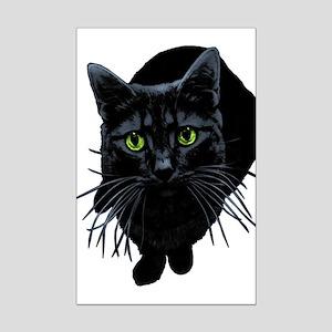 Black Cat Mini Poster Print