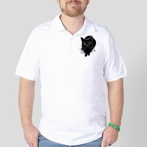 Black Cat Golf Shirt