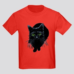 Black Cat Kids Dark T-Shirt