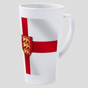 England Three Lions Flag 17 Oz Latte Mug
