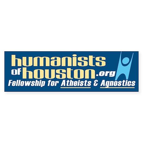 Humanists of houston bumper bumper sticker