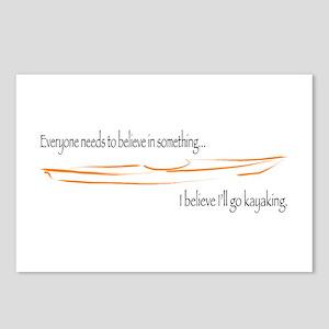 Believe in Kayaking 2 Postcards (Package of 8)