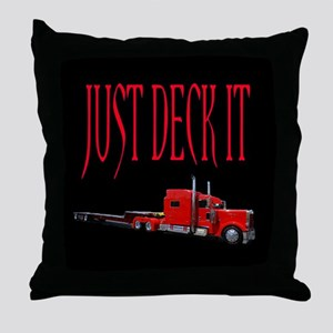 Just Deck It Throw Pillow