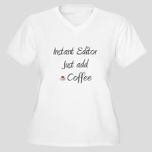 Instant Editor Women's Plus Size V-Neck T-Shirt