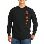 Macedonia Stamp Long Sleeve Dark T-Shirt