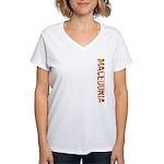 Macedonia Stamp Women's V-Neck T-Shirt